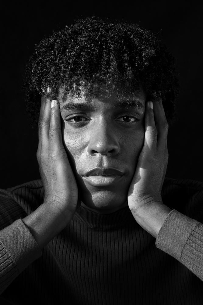 photographe portrait paris noir et blanc Elie
