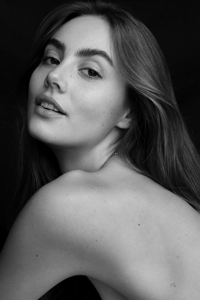 Photographie portrait noir et blanc Ditte