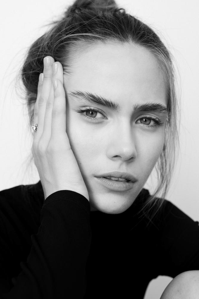 Portrait noir et blanc Alessandra